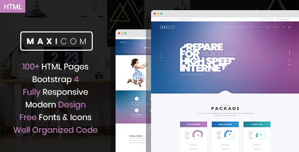 Maxicom - Internet Company HTML Template